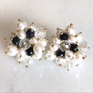 QVC Joan Rivers Simulated Pearls Luxe Earrings